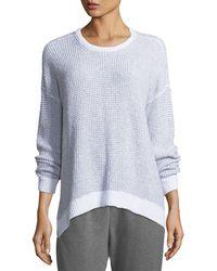 Eileen Fisher   Peruvian Organic Cotton Boucle Long-sleeve Top   Lyst