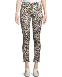 7 For All Mankind - Sunkissed Animal-print Ankle Skinny Jeans - Lyst