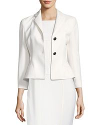Narciso Rodriguez | Bracelet-sleeve Two-button Short Wool Jacket | Lyst
