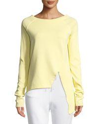Frank & Eileen - Asymmetric Cotton Sweatshirt - Lyst