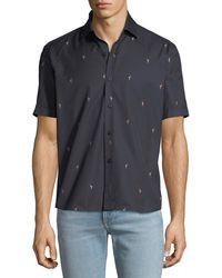 Culturata - Men's Soft Flamingo Print Shirt - Lyst