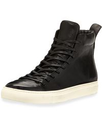 John Varvatos | 315 Reed Leather Mid-top Sneaker | Lyst