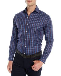 Peter Millar - Men's Quarry Falls Plaid Cotton/silk Sport Shirt - Lyst