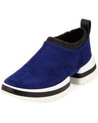 Stuart Weitzman - Sw-612 Suede/leather Slip-on Sneakers - Lyst