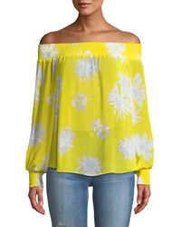 Ramy Brook - Augustine Printed Off-the-shoulder Printed Textured Coverup - Lyst
