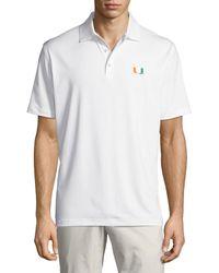 Peter Millar - Men's University Of Miami Solid Polo Shirt - Lyst