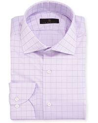 Ike Behar - Gold Label Check Cotton Dress Shirt - Lyst