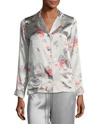 Meng - Floral-print Long-sleeve Pajama Top - Lyst