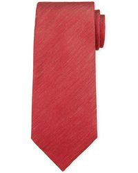 Ermenegildo Zegna - Two-tone Chevron Silk Tie Red - Lyst