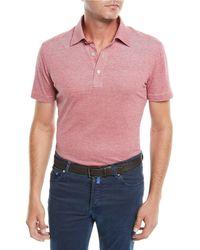 Kiton - Men's Heathered Oxford Polo Shirt - Lyst