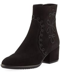 Sesto Meucci - Fenny Embellished Suede Booties - Lyst