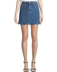 Joe's Jeans - Bella Scalloped Denim Mini Skirt - Lyst