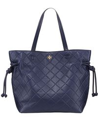Tory Burch | Georgia Slouchy Quilted Leather Tote Bag | Lyst