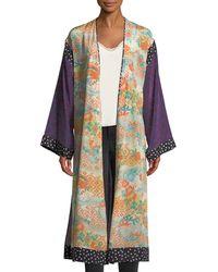 Elizabeth and James - Shawna Floral Patchwork Kimono Robe - Lyst