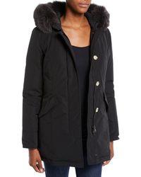 Woolrich - Luxury Arctic Hooded Parka Coat W/ Fur - Lyst