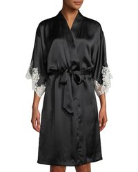 Lise Charmel - Splendeur Lace-trim Silk-blend Robe - Lyst