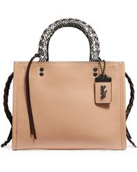 99bdc316e24 Ted Baker Exotic Leather Mini Tote Bag in Black - Lyst