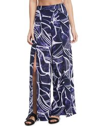 La Blanca - Bali Hai Slit-front Wide-leg Coverup Pants - Lyst