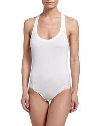 La Perla - Souple Lace-trimmed Bodysuit - Lyst