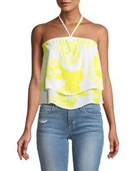 Cupcakes And Cashmere - Bergman Halter Floral-print Tie-dye Top - Lyst