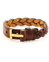 Tom Ford - Nashville Men's Braided Leather Bracelet - Lyst