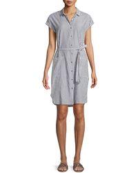 Velvet - Sonay Striped Button-front Shirtdress - Lyst