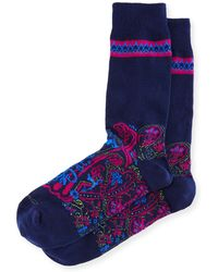 Etro - Short Paisley Socks - Lyst