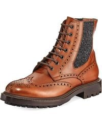 Brunello Cucinelli   Brogue Leather Lace-up Boot   Lyst