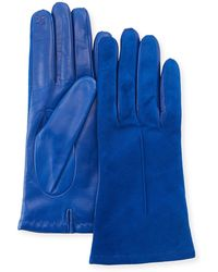 Portolano - Tech Suede & Napa Leather Short Gloves - Lyst