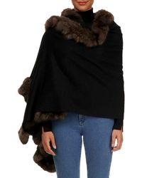 Gorski - Cashmere Stole With Sable-fur Trim - Lyst