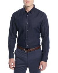 Brioni - Men's Textured Cotton Sport Shirt - Lyst