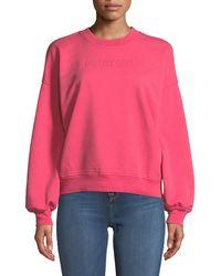 7 For All Mankind - Mankind Crewneck Long-sleeve Cotton Sweatshirt - Lyst
