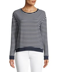 Neiman Marcus - Striped French Terry Sweatshirt - Lyst