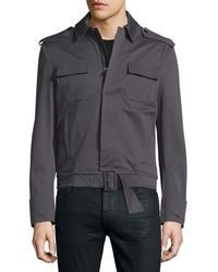 CoSTUME NATIONAL - Long-sleeve Woven Sports Jacket - Lyst