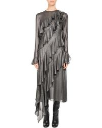 Pascal Millet - Metallic Ruffle-trim Midi Dress - Lyst
