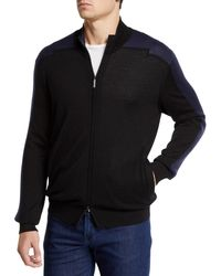 Stefano Ricci - Men's Mock-neck Full Zip Long-sleeve Sweater - Lyst
