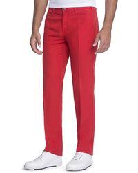 Stefano Ricci - Linen-blend Pants With Suede Details - Lyst