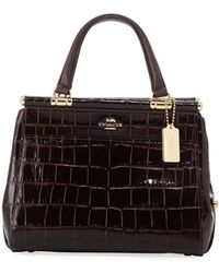 COACH - Grace Embossed Crocodile Top-handle Bag - Lyst