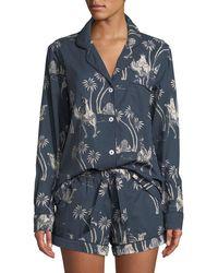 Desmond & Dempsey - Camel Cotton Classic Short Pajama Set - Lyst