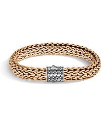 John Hardy - Men's Classic Chain Bracelet W/ Bronze - Lyst