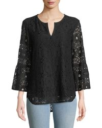 Finley - Belle Chenille Lace 3/4-sleeve Top - Lyst