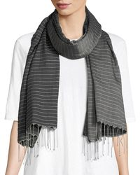 Eileen Fisher - Hand-loomed Pinstriped Scarf - Lyst