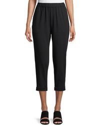 Eileen Fisher - Jersey Slouchy Cropped Pants - Lyst