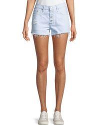 Levi's Premium - 501 Better Love Denim Shorts W/ Cutoff Hem - Lyst