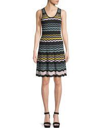 M Missoni - Colorblock Sleeveless Ripple-knit Dress - Lyst