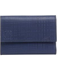 Loewe - Small Vertical Calf Leather Wallet - Lyst