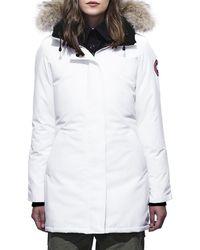 30e0f4f92bb1 Canada Goose - Victoria Fur-hood Parka Jacket - Lyst