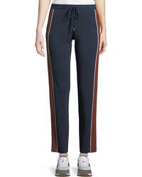 Loro Piana - Drawstring High-rise Tapered-leg Athletic Pants - Lyst