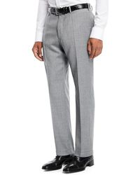 Incotex - Benson Five-pocket Standard-fit Techno Wool Flannel Trousers - Lyst