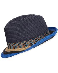 cb65d41ef2f303 Paul Smith Men's Navy 'mayfair' Wool Fedora Hat in Blue for Men - Lyst